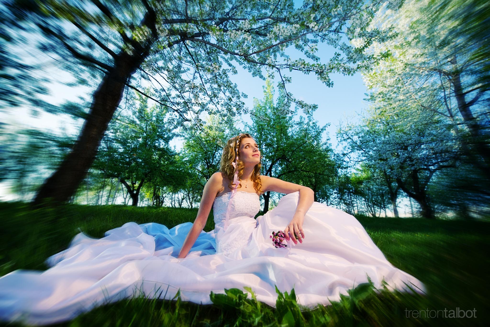 Wedding photo, bridal portrait in North GA